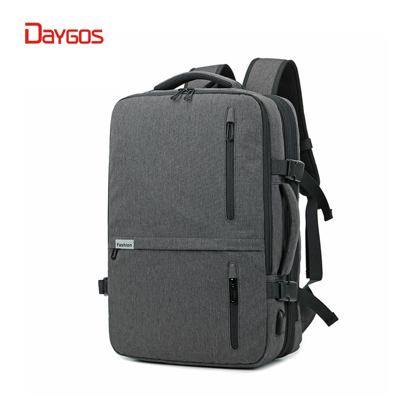 DAYGOS 2018 Men Laptop Backpack 17 inch Men Casual Waterproof Business 20-35L Large Capacity Bag Male Gray Black Travel Bags daygos large capacity men travel bag laptop and notebook backpack large multi compartment backpack school bags