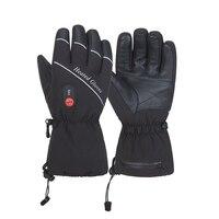 Зимние теплые перчатки с подогревом 5 пальцев и сзади нагрева Водонепроницаемый ветрозащитный Спорт на открытом воздухе Лыжный Спорт кемпи