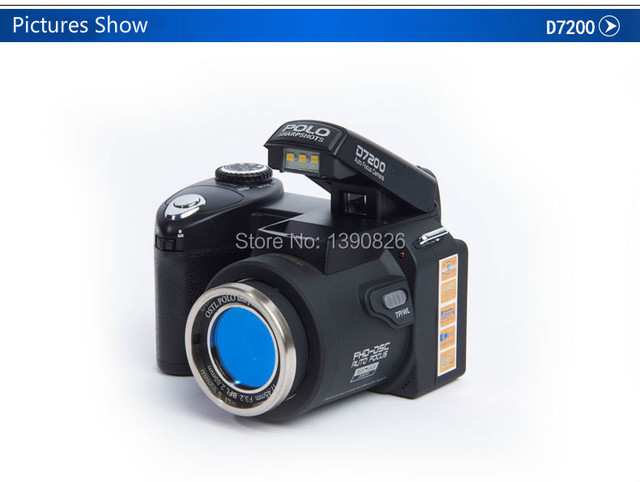 POLO SHARPSHOTS D7200 HD Digital Camera camera 24X telephoto wide-angle micro single lithium battery Three lens