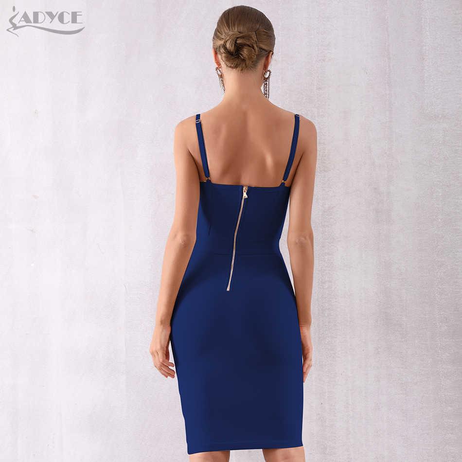 Adyce 2019 летнее Бандажное платье голубого цвета женские платья элегантные праздничные вечерние платья для подиума облегающее платье на бретельках для ночного клуба