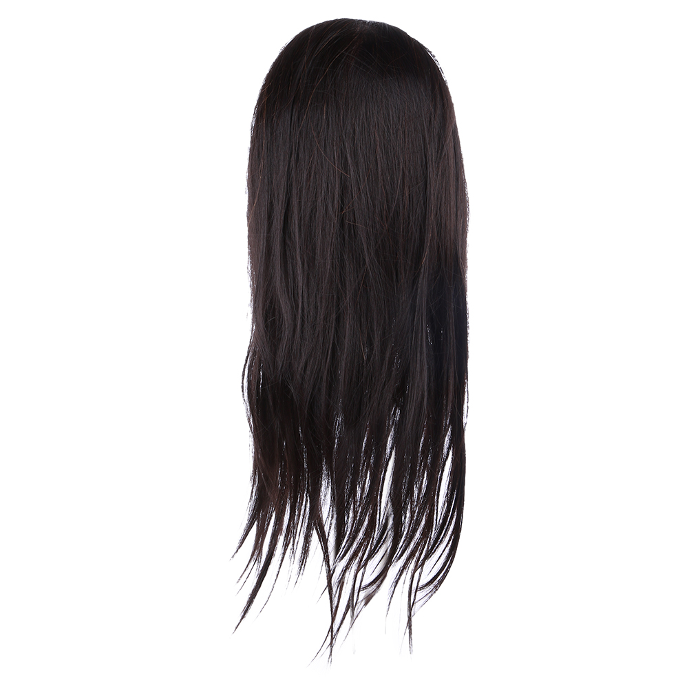 55cm Black Hair Hairdressing Practice Head Professional Long Hair Hairdressing Training Mannequin 85% Real Human Hair