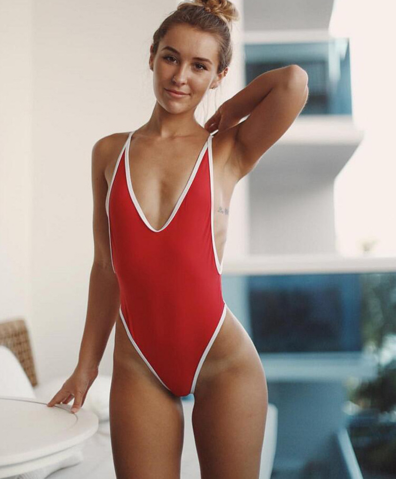 11colors hot sale high cut thong swimsuit sexy beachwear monokini bathing suit swimwear trajes de bano women una pieza triquini