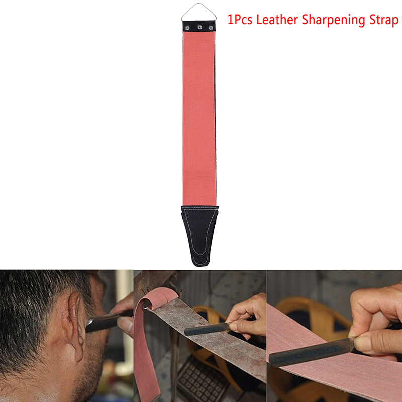 1pc Double Side Canvas Leather Sharpening Strop For Barber Open Straight Shave Razor Sharpening Strap Tool Available