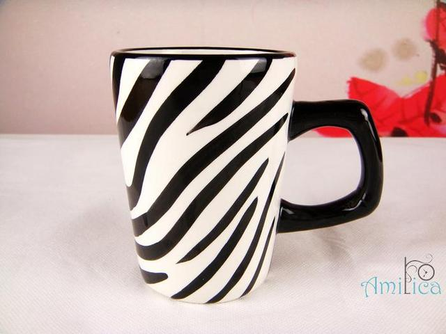 Free shipping, Roscher classic black and white mug coffee cup hand ...