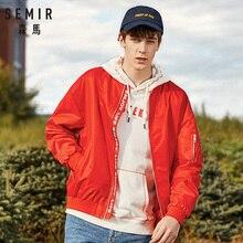 SEMIR 2019 WINTER Повседневная куртка Мужская сплошная мода Тонкий бомбер Мужская куртка Бейсбольные