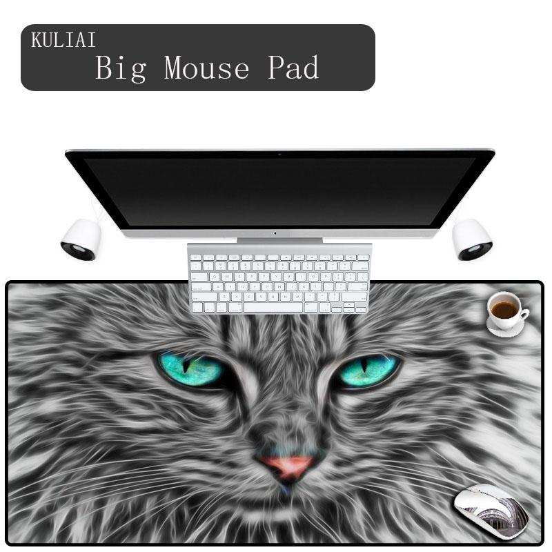 Xgz Print Blue Eyes Cat Animal Mouse Pad Hello Kitty Wallpaper Desktop Computer Mousepad Gaming Notebook Keyboard Mousemat Mouse Pads Aliexpress