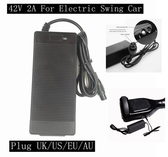 NUEVA 42 V 2A Cargador de Batería Universal, fuente de Alimentación 100-240VAC para Auto Equilibrio Scooter Hoverboard UK/EU/EE.UU./AU Plug