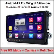 9 inch Quad Core 2 din Android 4.4 Car DVD player for VW Volkswagen GOLF 5 Golf 6 POLO PASSAT SKODA CC JETTA TIGUAN TOURAN GPS
