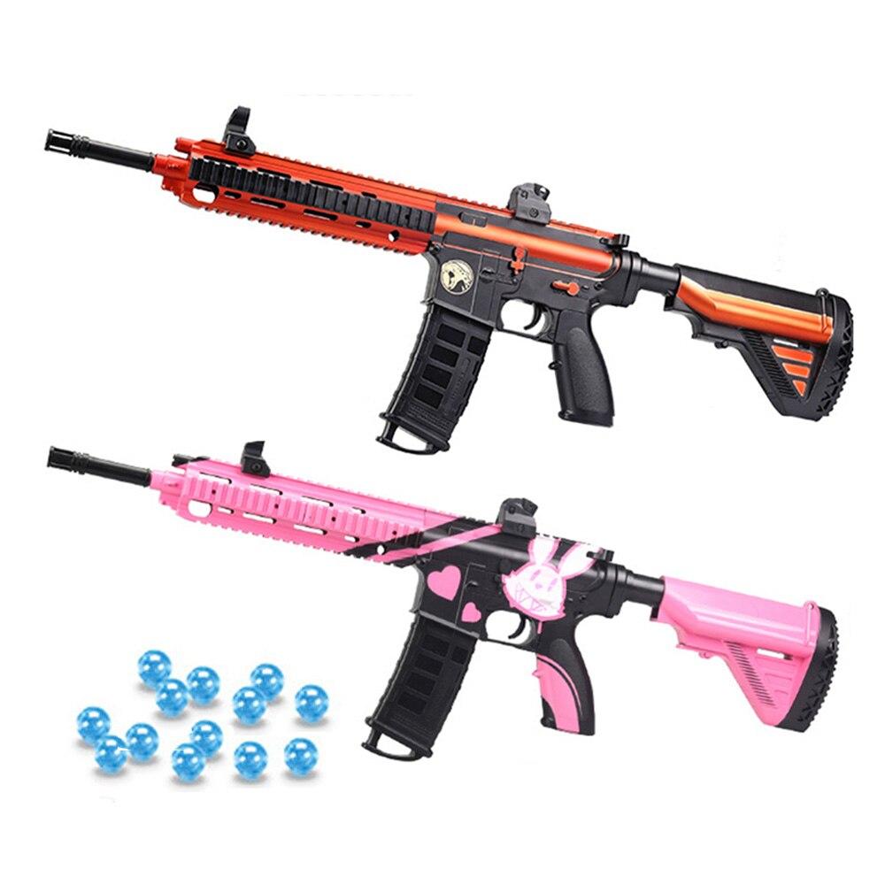 Oyuncaklar ve Hobi Ürünleri'ten Oyuncak Silah'de Plastik M416 oyuncak silahlar silah Armas su Paintball mermi jel topu jel Blaster açık oyuncaklar otomatik ateşli silah erkek hediyeler title=