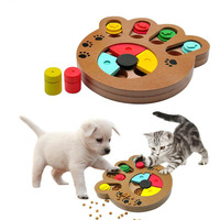 Wooden Interactive Pet Toy Food Treated Bone Claw Cat Dog Toys Feeder Container Anti depression Pets IQ Training Puzzle Toy