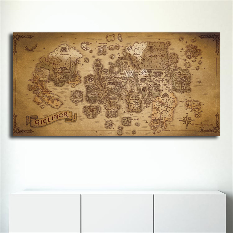 DARK SOULS MAP Art Silk Poster 24x36 24x43