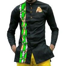 African print mens dashiki shirts custom african clothes fashion shirt men long sleeve turndown collar shirt of africa clothing