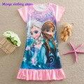 Моня 2016 Анна Эльза ночной рубашке Детская Одежда Детские Пижамы Костюм Девушки Принцесса Vestidos Infantis детская одежда