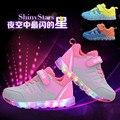 Tenis LEVOU infantil crianças iluminar sapatos tênis brilhantes luzes luminosas meninas sapatas dos miúdos das sapatilhas meninos sapatos formadores de led criança