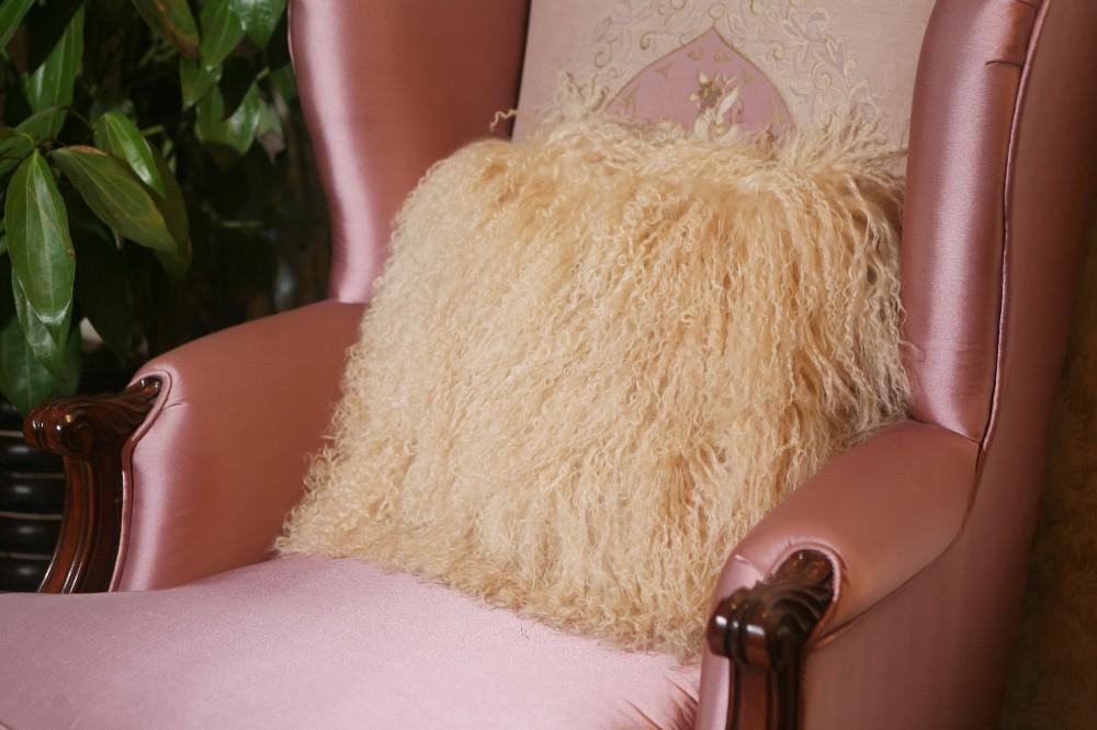 sheep skin back cushion pillow7