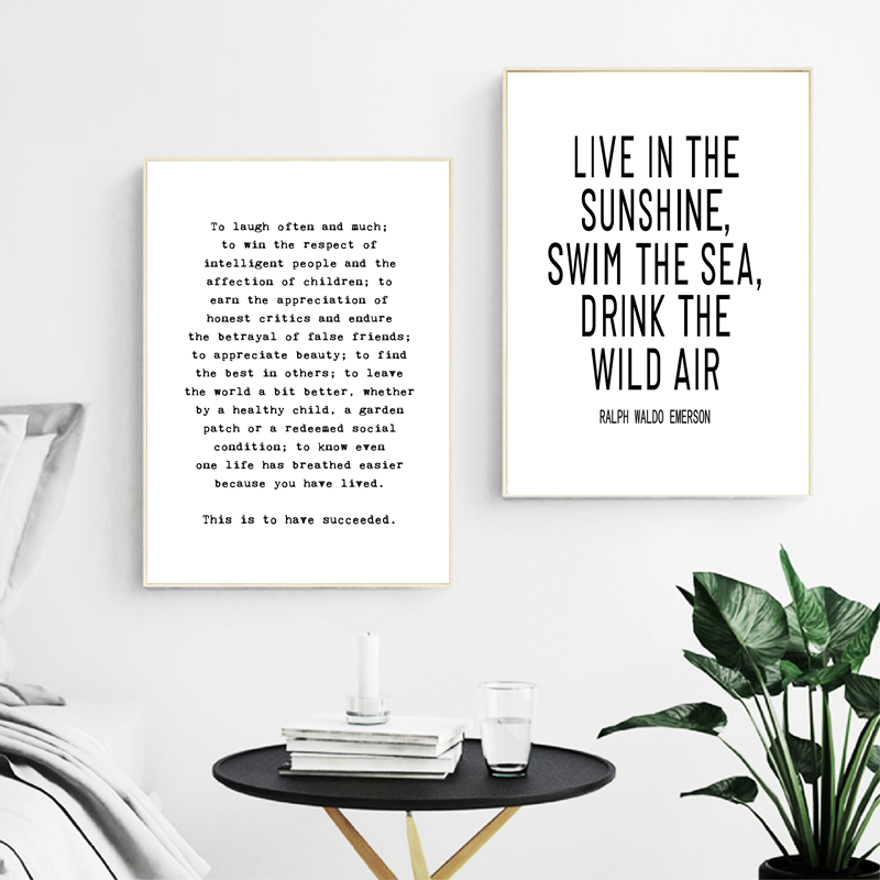 Home Quote Abstract Minimalist Canvas Poster Art Prints Modern Home Decoration
