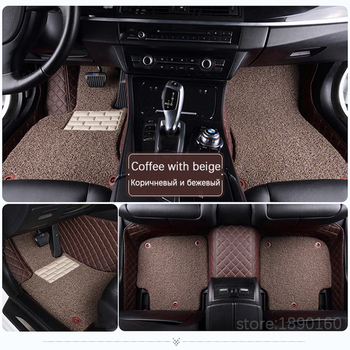 Custom car floor mats for Ford escort fiesta mondeo Focus Fiesta Edge Explorer Taurus S-MAX F150 Everest mustang accessories