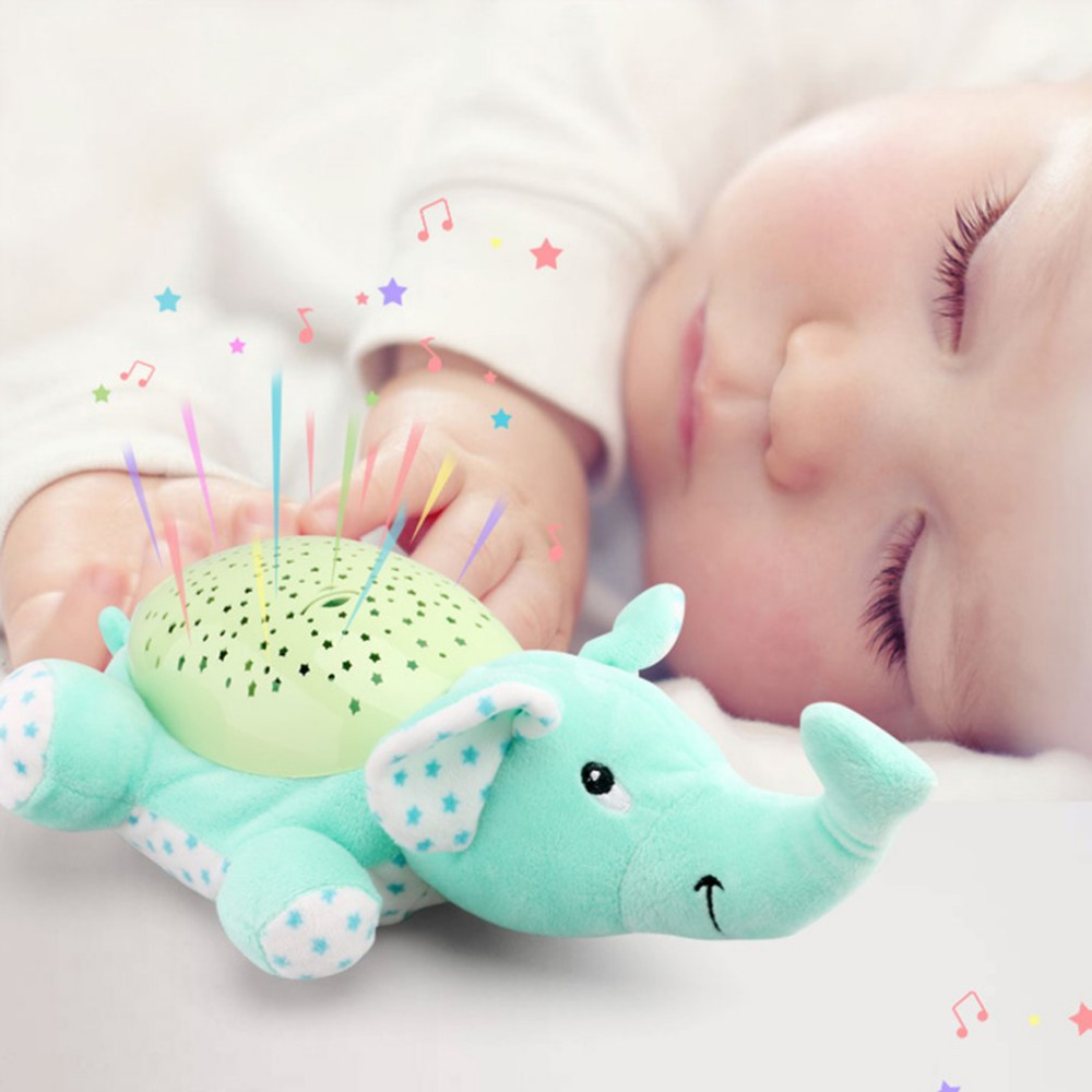 Children Animal Plush Night Light Dreamy Starry Star Projection Lamp Light Doll Toy Proj ...