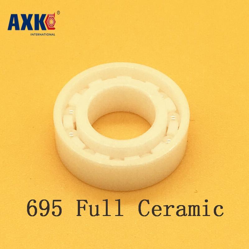 2018 New Rushed Rolamento Axk 695 Full Ceramic Bearing ( 1 Pc ) 5*13*4 Mm Zro2 Material 695ce All Zirconia 619/5 Ball Bearings free shipping 697 619 7 7x17x5 mm full zro2 ceramic ball bearing