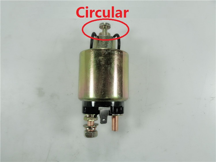 Free Shipping Circular Diesel Engine 170F 178F 186F 186FA solenoid switch electric relay starting motor starter motor 170f 178f 186f 188f 192f engine parts the starter motor two choice please check rotation of the starter