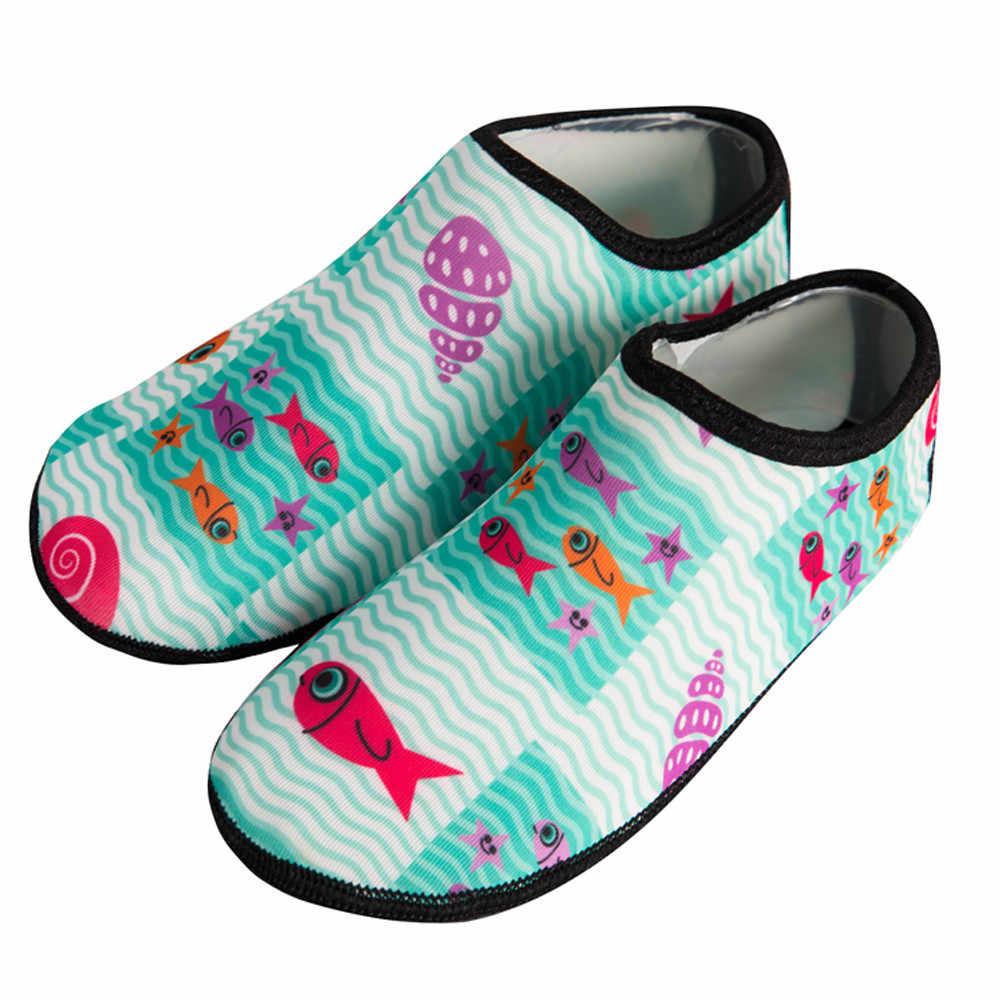 เด็กรองเท้ากลางแจ้งรองเท้าชายหาดรองเท้าลื่น Breathable กีฬารองเท้าเด็ก House Soft ถุงเท้า