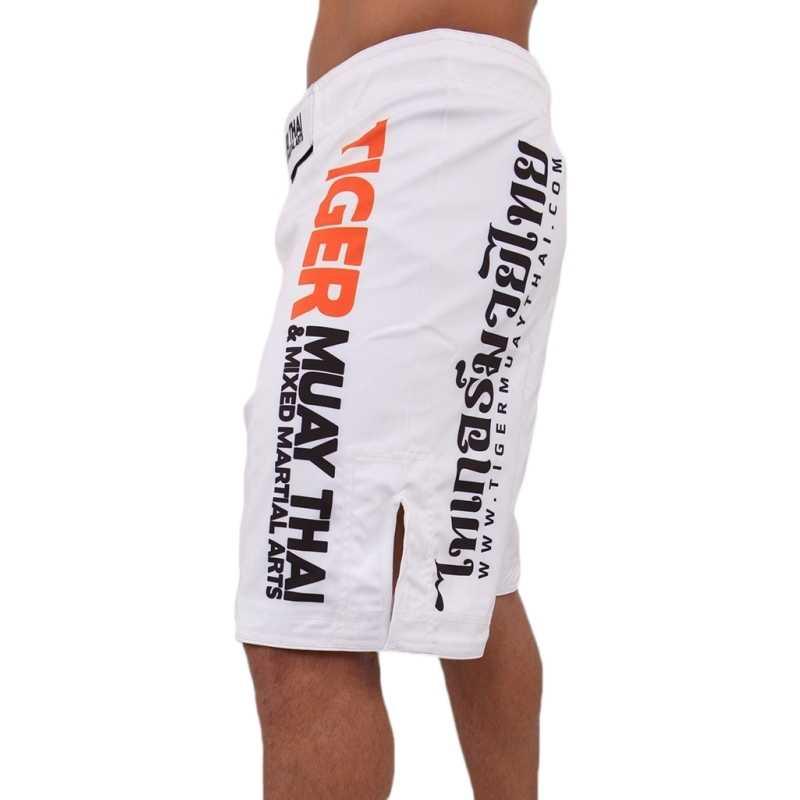 SUOTF el blanco nuevo Tiger Muay Thai MMA shorts para lucha Boxeo muay thai pantalones de boxeo chico malo boxeo ropa muay thai shorts