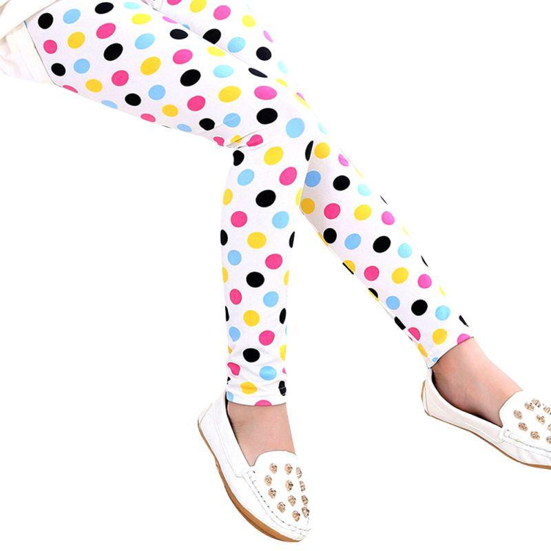 2017 New Style Spring Autumn Baby Kids Girls Printed Girls Pants Girls Shinny Leggings 2-13Y