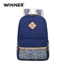 Победитель леопард печати для девочек школьные сумки для подростков милые женские парусиновые рюкзак Mochila Feminina Повседневная сумка рюкзак школы