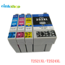 einkshop 1Set For Epson T2521 T2521XL Ink Cartridge For Epson WorkForce WF-3620 WF-3640 WF-7110 WF-7610 Printer