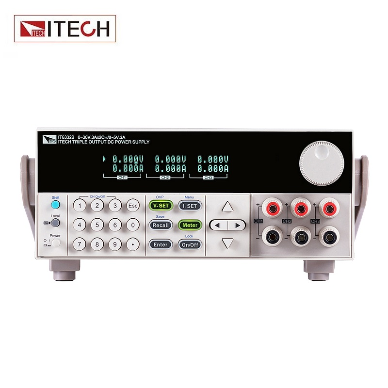 ITECH IT6332B Digital Display 3-channel Programmable DC Power Supply 5V 3A 15W 1CH 30V 6A 180W 2CH RS232 /USB/GPIB itech d605 b