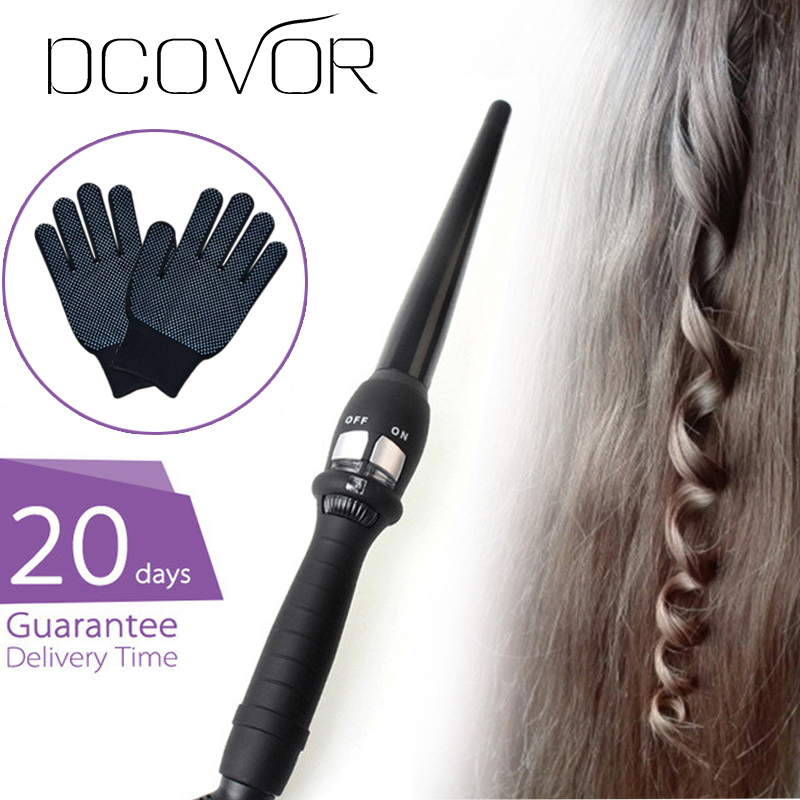 curlers conical curling iron single tube ceramic glaze pear flower cone electric hair curly hair : 110-240V