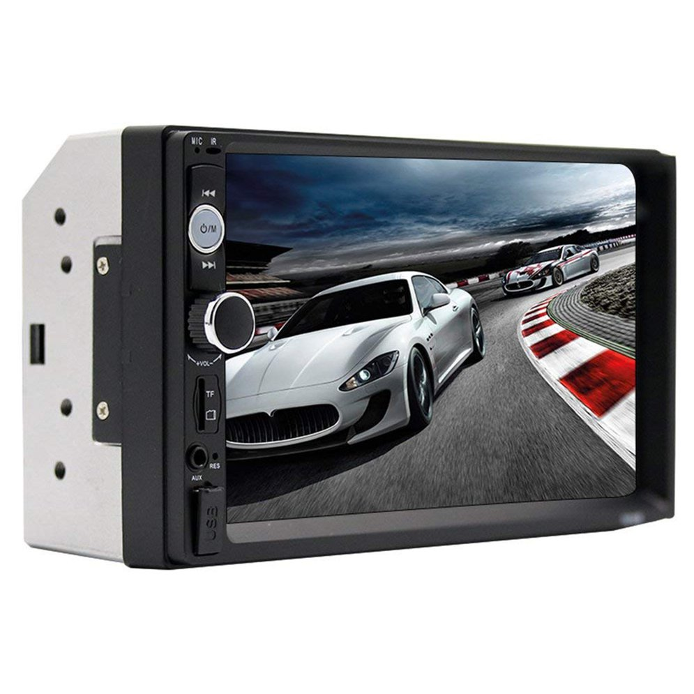 "7010B 7"" Double Din Touch Screen Car Audio Stereo Receiver MP5 Player FM Radio Bluetooth with Camera Support MP3/WMA/WAV"