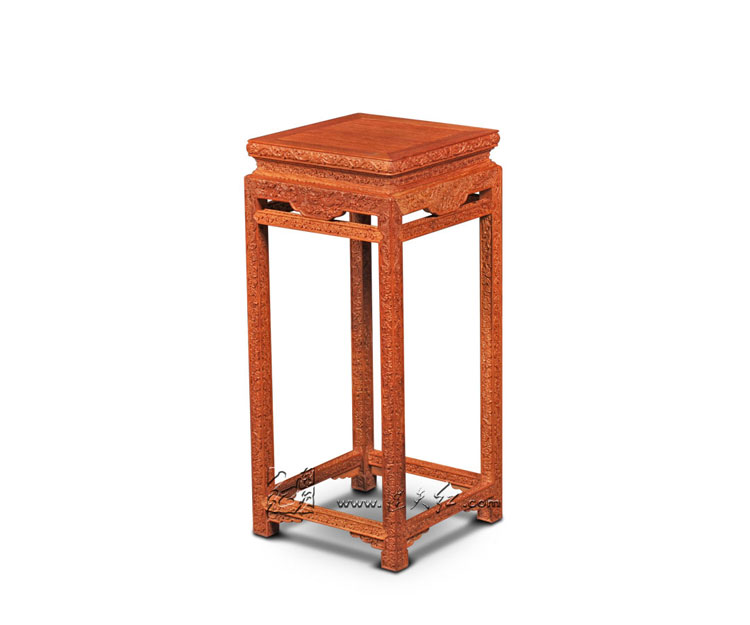 Rosewood High Square Console Table Solid Wood Flower Incense Burner Stand Home Living Room Side End Table Annatto Small Desk New stools with chi design living room low console table burma rosewood chinese classical antique furniture solid wood square bench