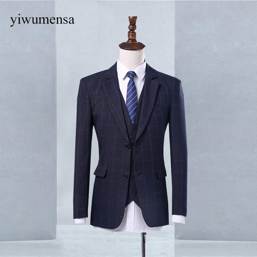 Online Shop yiwumensa terno masculino slim fit tweed Custom men ...