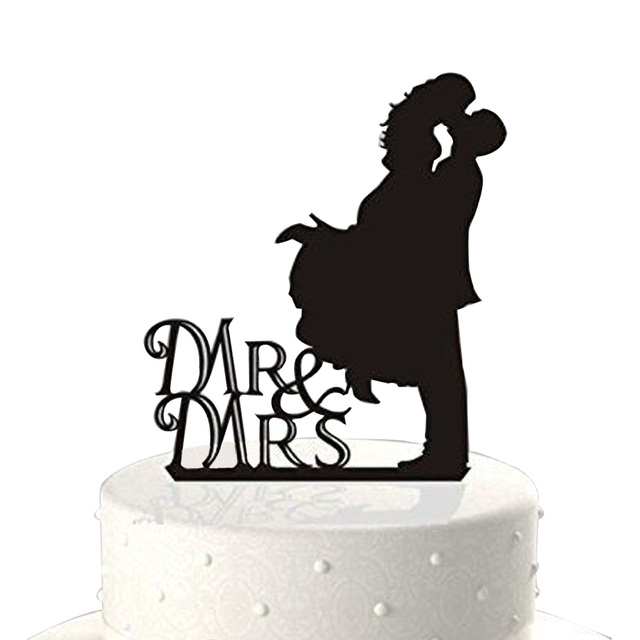 how to preserve wedding cake figures mr amp mrs silhouette acrylic wedding cake 16111
