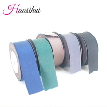 haosihui High quality polyester cotton ribbon for Hair accessories and packaging Cake gift 5yards/lot
