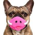 2016 Demônio Porco 2 Estilo Animal de Estimação Brinquedo Do Cão Cão Tratar treinamento Atividade Som Chew Toy Filhote de Cachorro Squeaky Brinquedos do Jogo Aleatório cor