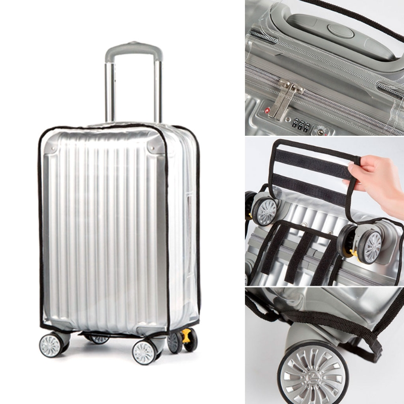 Traveling Luggage Suitcase PVC Cover Rain Protective Travel Waterproof Dustproof 24 28inch