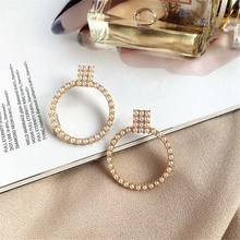 CRLEY Round Pearl Stud Earrings Jewelry For Women White Handmade Christmas Gifts Italy Party Earring Gift Accessories