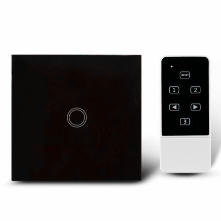 UK Standard Touch Remote control Light Switch, 1Gang1Way Black Pearl Crystal Glass Wall Switch, With LED Indicator new arrivals remote touch wall switch uk standard 1 gang 1way rf control light crystal glass panel china
