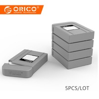 ORICO PHI 5S GY Simple HDD Protector Box for 3.5 Inch HDD Case with Waterproof Function 5 pcs/lot Gray