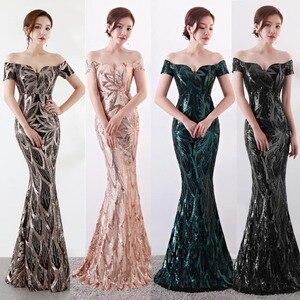 Image 1 - נובל וייס ארוך כבוי כתף ערב שמלות ערב בת ים שמלות נשים פורמליות שמלות us2 14