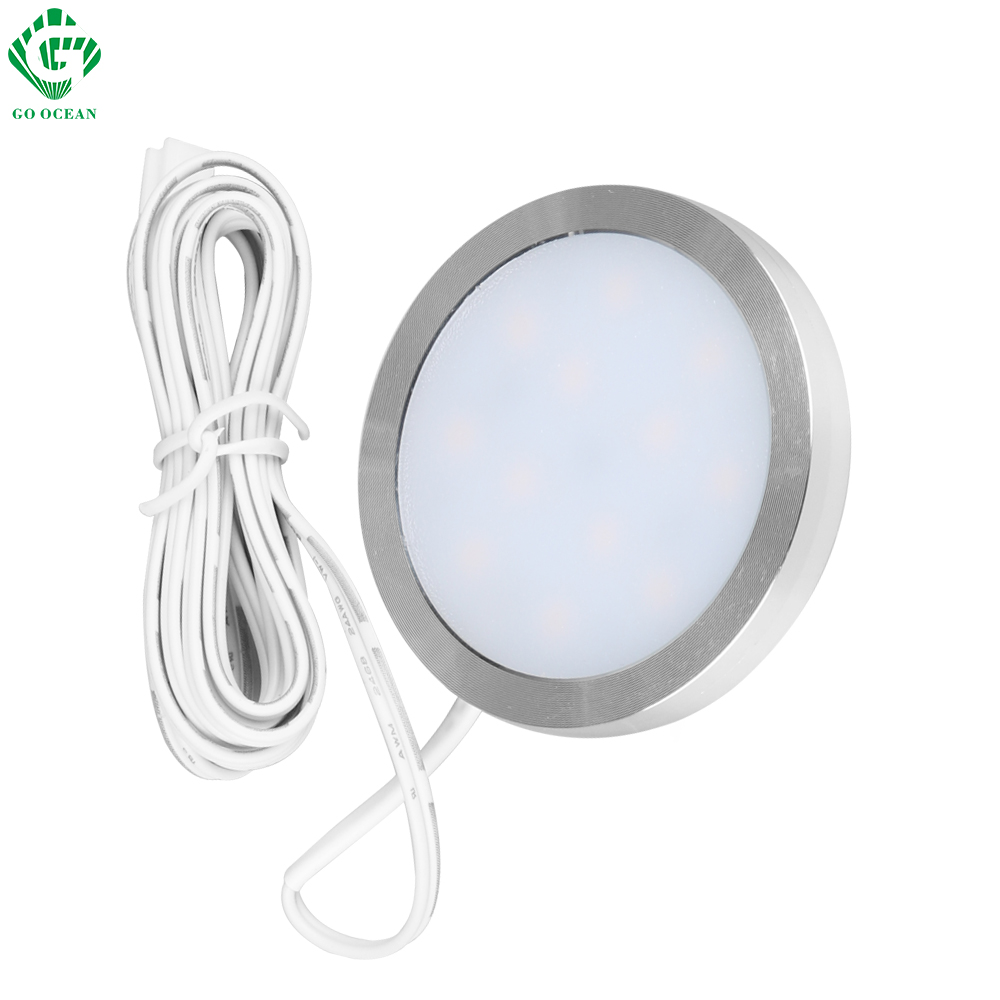 LED kabinett lyshylle Showcase skap 12V skap lampe Kitchen Showcase Puck Downlight Garderobe Night Counter Lighting Lamper