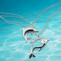 Dolphin pendant  necklace,925 sterling silver women fashion necklace fashion dolphin silver chain women
