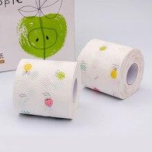 Лучший!  12 Roll 3 Ply Fruit Printed WC Ванна Смешная туалетная бумага Ткань Товары для ванной Рулонная бумаг Лучший!