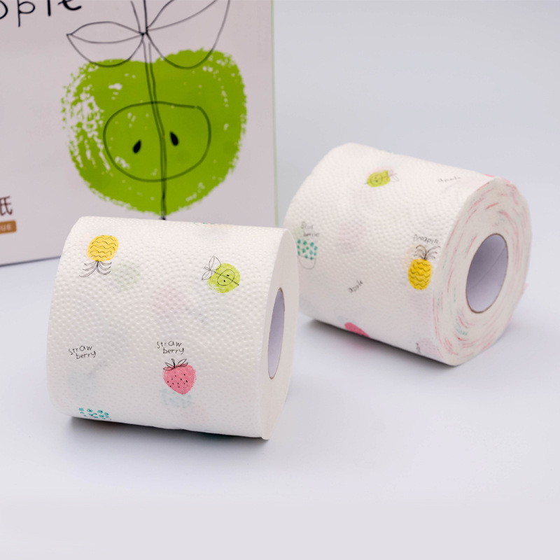 12 Roll 3 Ply Fruit Printed WC Bath Funny Toilet Paper Tissue Bathroom Products  Rolling Paper Karachi