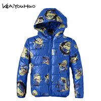 KEAIYOUHUO 2017 Fashion Lovely Boys And Girls Spring And Autumn Winter Coat Cartoon Figure Mean My