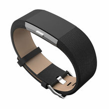 For Fitbit charge 2 leather bands,Accessories Leather Bands strap for Fitbit Charge 2,Fits 5.9-8.1 inch Black color(China (Mainland))