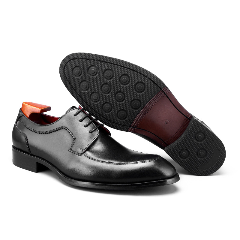 2019 New Formal Shoes Men Lace up Luxury Dress Shoe Genuine Leather Italian Wedding Office Party Handmade Oxford Shoes in Formal Shoes from Shoes