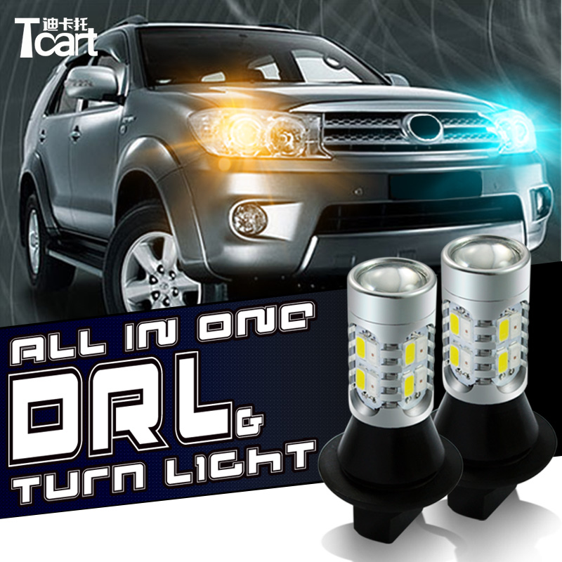 Tcart  WY21W 1156 bAU15S  for Nissan Juke accessories DRL Daytime Running Light Front Turn Signals lights
